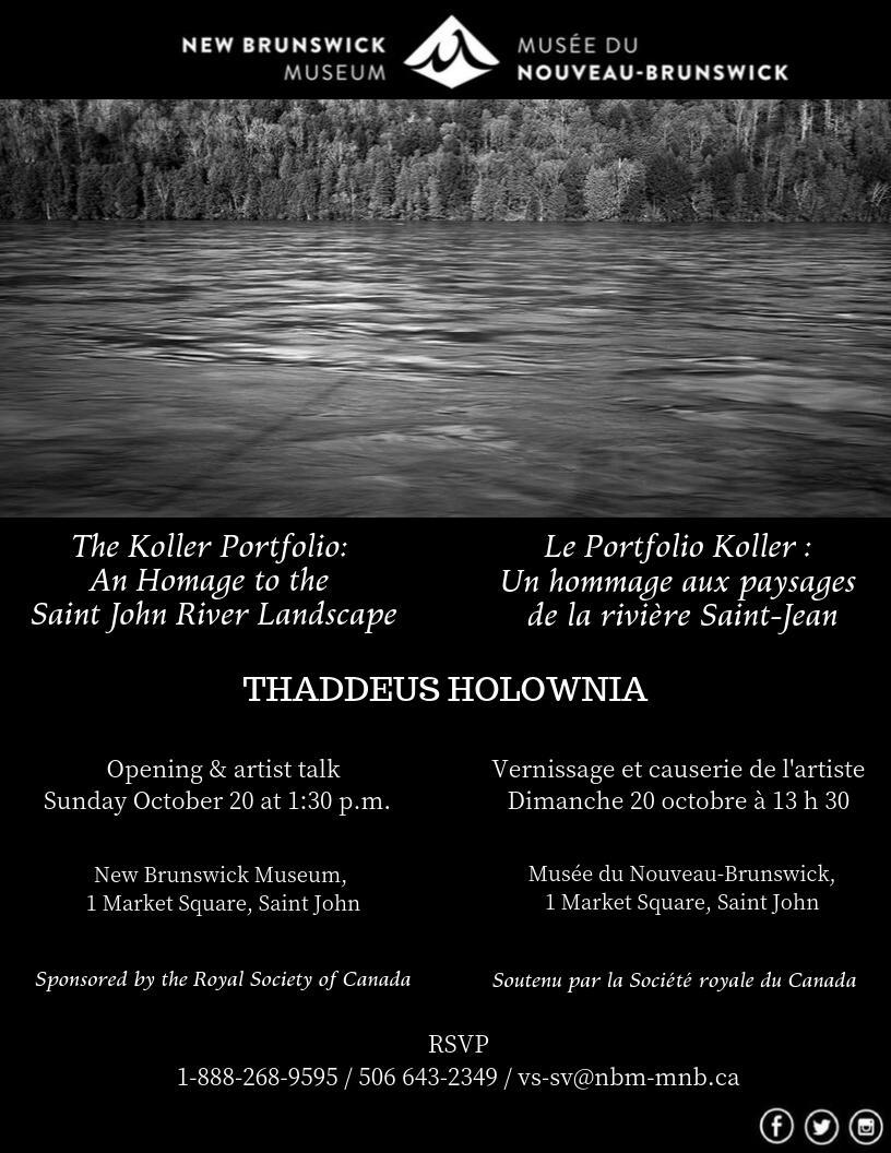 The Koller Portfolio: Thaddeus Holownia, New Brunswick Museum